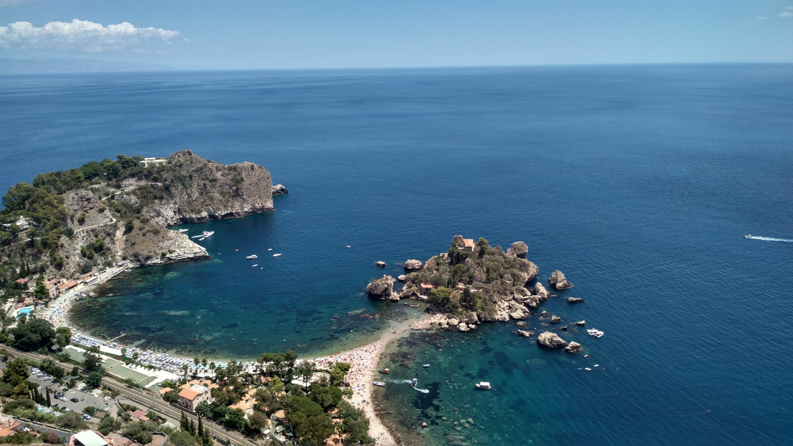 Wonderful landscape of Taormina seaside