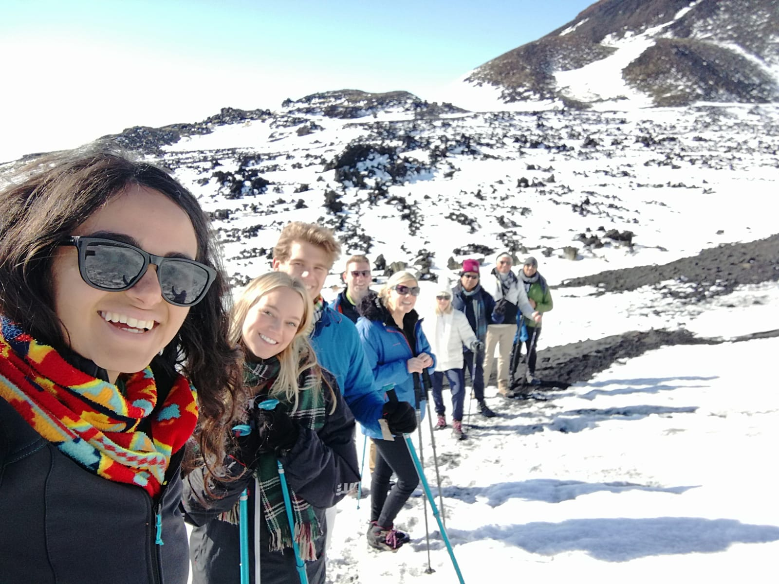 Enjoying winter on Etna trip