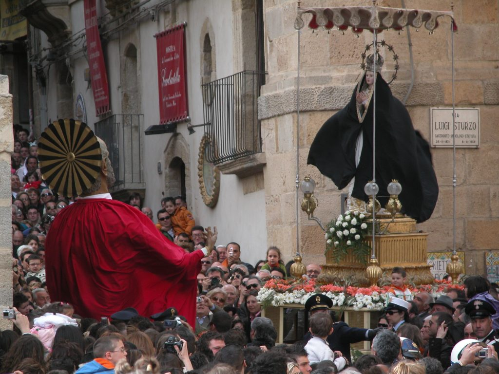 Easter procession during the Holy Week in Caltagirone