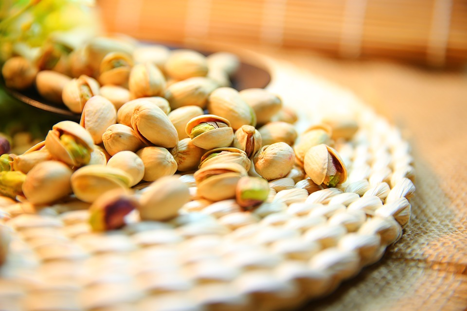 Bronte Pistachios on a table