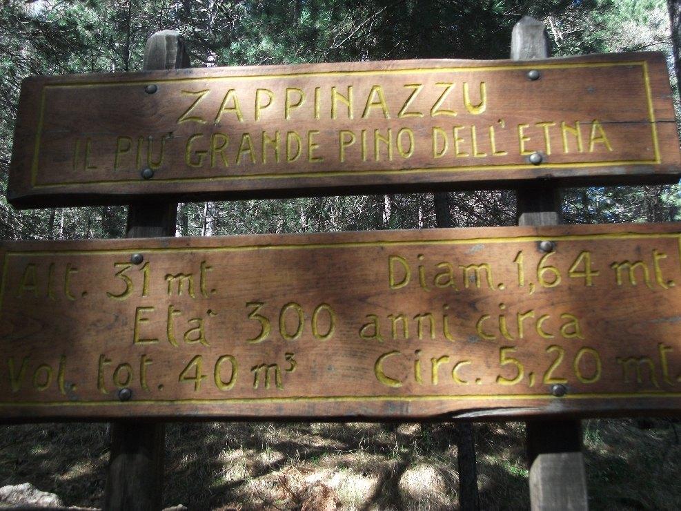 Targa di Zappinazzu con informazioni