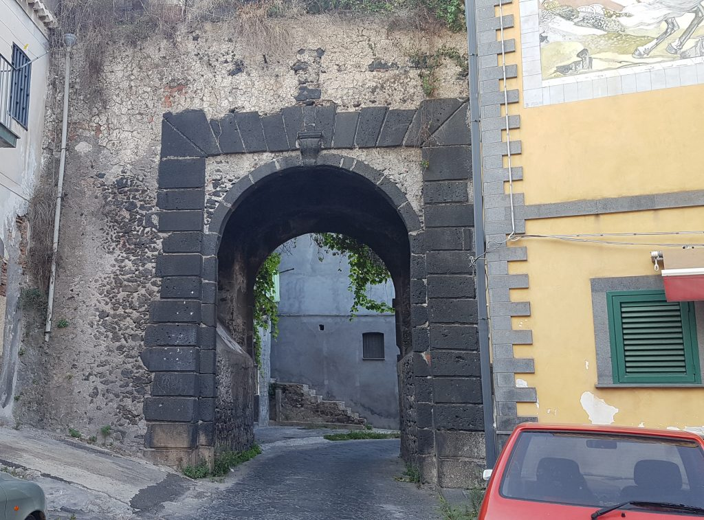 The door of the old fort of Catania
