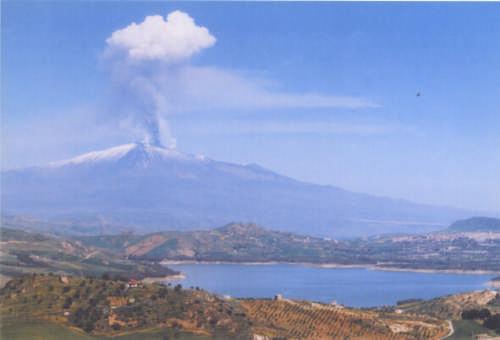 Lake Pozzillo and Mt. Etna