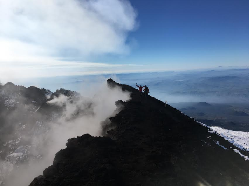etna excursion on the summit area