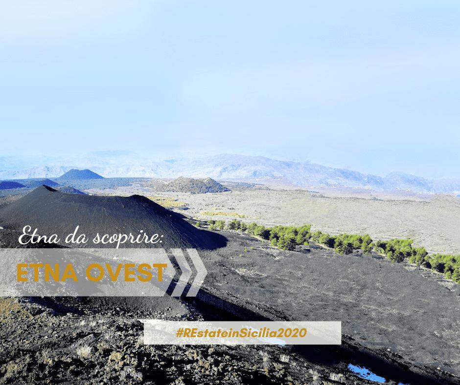 Il versante Ovest dell'Etna